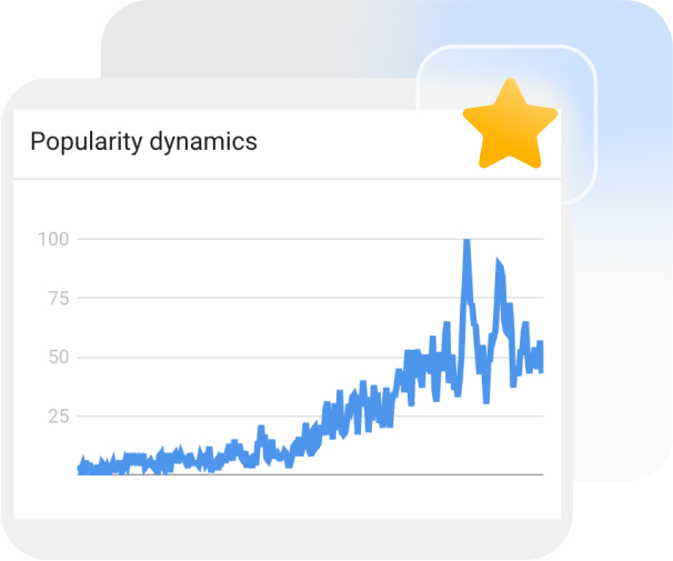 Sellvia's team checks all product ideas in Google Trends to find the best items to dropship