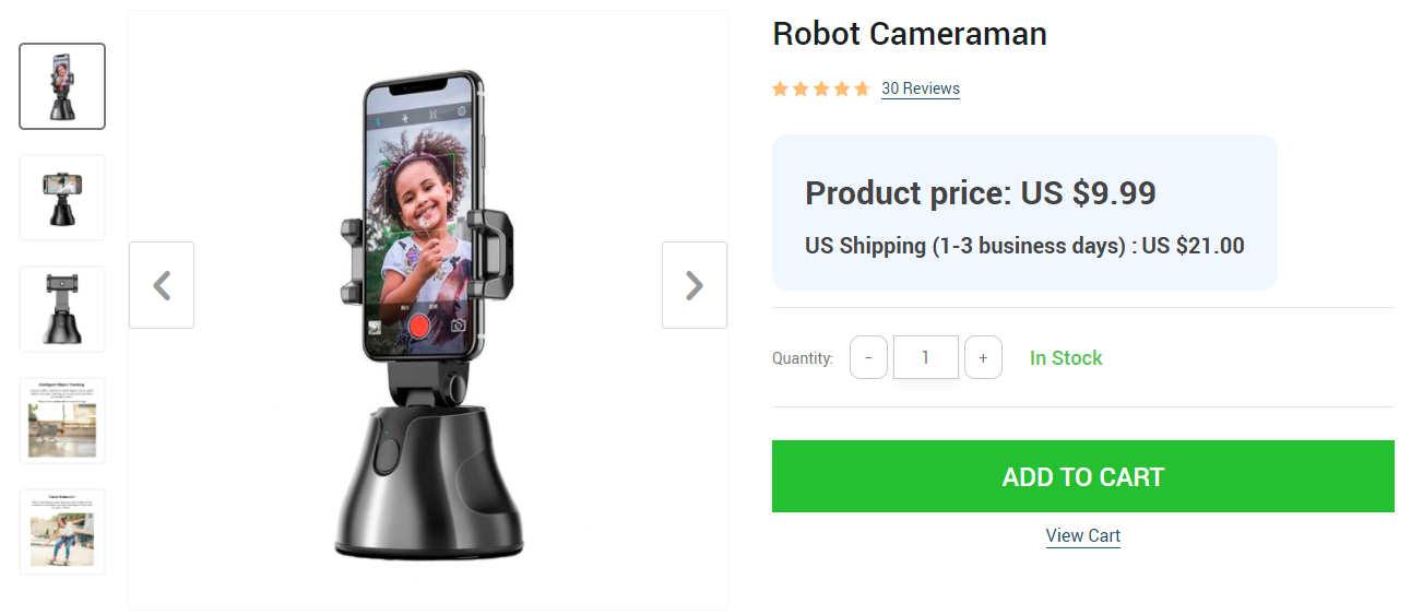 This robot cameraman is an example of an innovative product for which you charge a good price