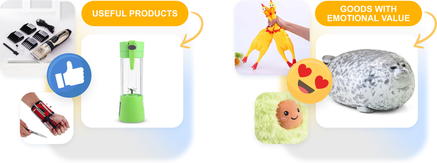 Useful products and goods with strong emotional value are the best items to dropship