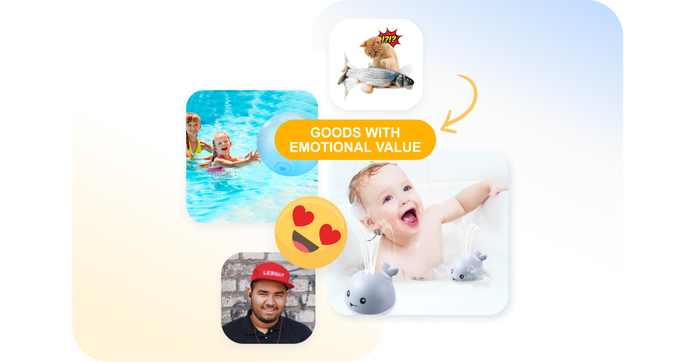 Examples of dropshipping products featuring strong emotional value.