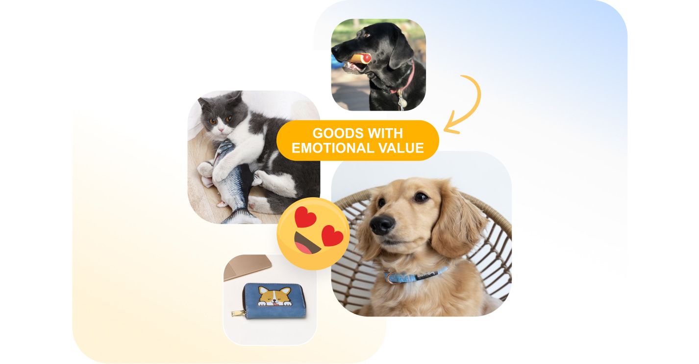 Pet supplies with emotional value you can find in Sellvia's catalog and resell in your own ecommerce store