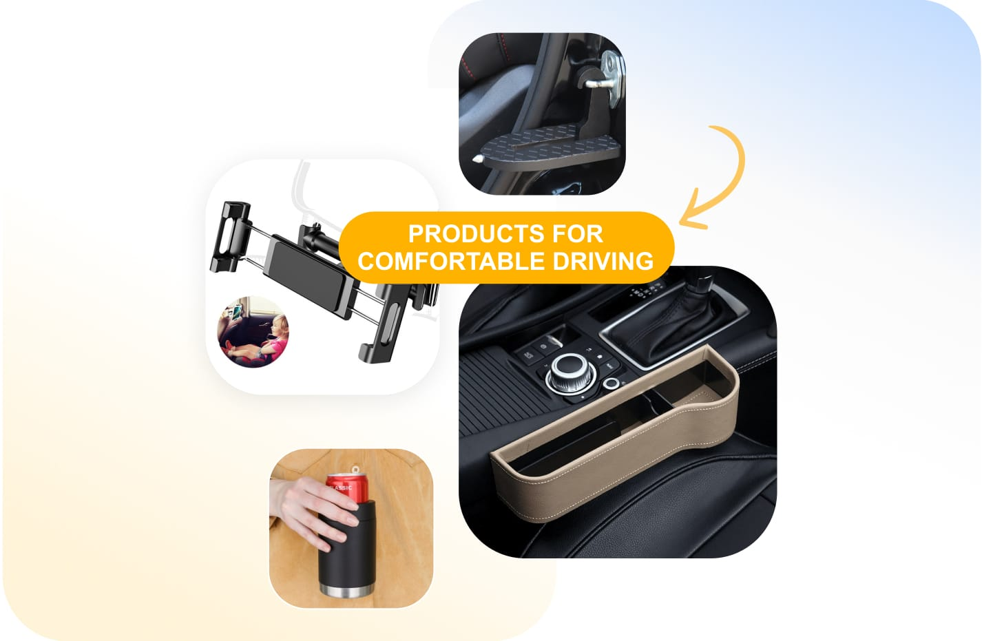 Products for comfortable driving you can resell from Sellvia