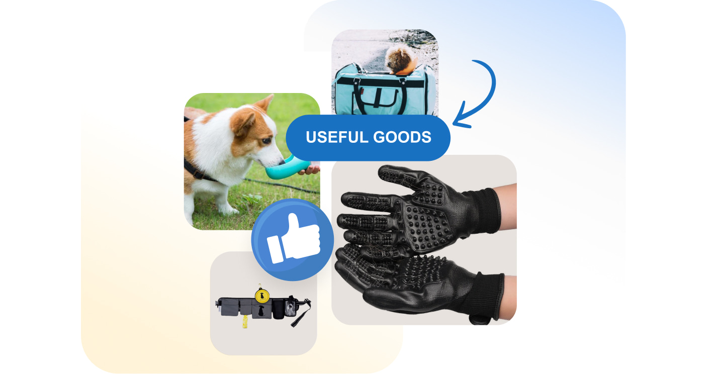 Useful pet products you can find in Sellvia's catalog and resell in your own ecommerce store