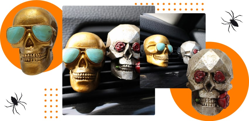 Halloween products: skull air fresheners
